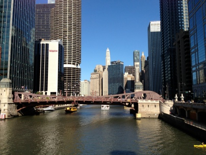 Chicago River! Only slightly polluted... but beautiful nonetheless!