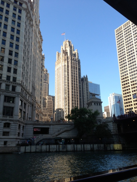 The Chicago Tribune building. Once won most beautiful building in the world!